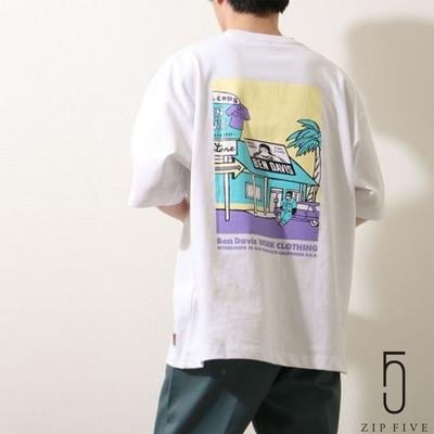 ZIP日本男裝 BEN DAVIS別注背後印刷短TEE (6色)
