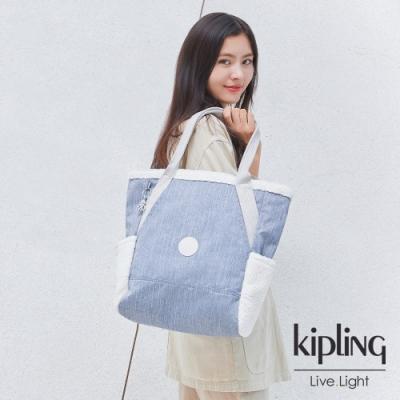 Kipling 經典率性丹寧大容量托特包-ALMATO