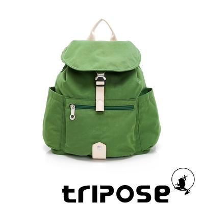 tripose MEMENTO微皺尼龍輕量後背包-小(草地綠)