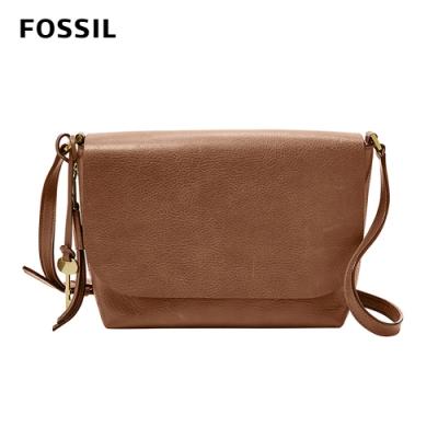 FOSSIL MAYA 俐落簡約真皮可加大側背包 -咖啡色 ZB7615200