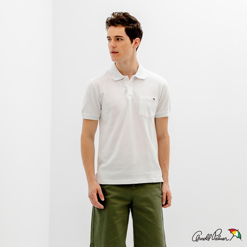 Arnold Palmer -男裝-經典小傘POLO衫-白色