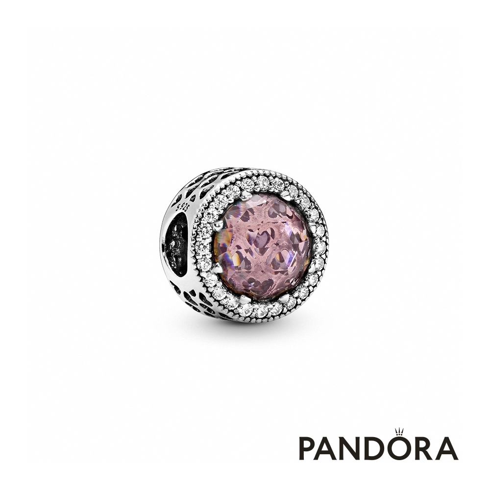 【Pandora官方直營】閃耀粉色水晶串飾