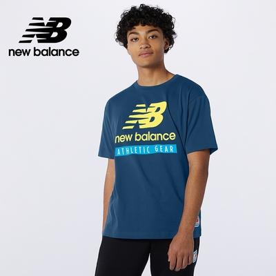 【New Balance】基本短袖T恤_男性_深藍色_AMT11517CNB