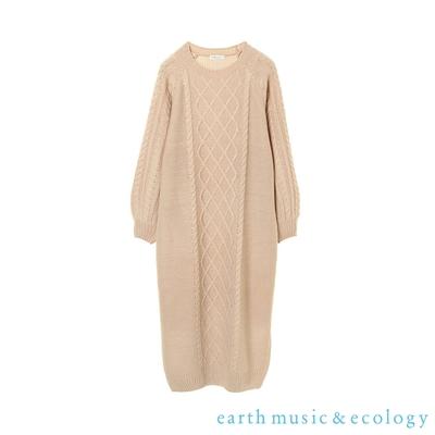 earth music 麻花針織連身洋裝
