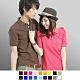 達邦  P0124大尺碼高磅數混搭必備素面口袋短袖POLO衫-紫 product thumbnail 1