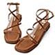 D+AF 自信步調.層次感交叉平底涼鞋*棕 product thumbnail 1