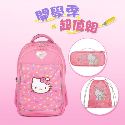 【IMPACT】怡寶成長型護脊書包-HELLO KITTY-聯名系列-粉紅 IMKT007PK