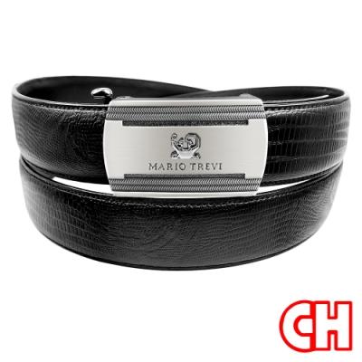 CH-BELT獨特自動扣功能設計休閒皮帶腰帶(黑)