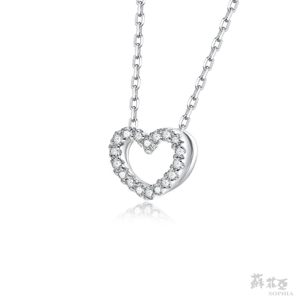SOPHIA 蘇菲亞珠寶 - 滿分愛戀 14K白金 鑽石項鍊