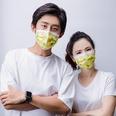 旭然 成人平面防護口罩-涼涼夏日款(5入/包)
