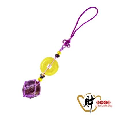 財神小舖 乾隆帶財 有求必應紫水晶吊飾 (含開光) DSF-1000