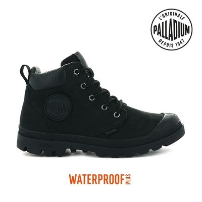PALLADIUM PAMPA CUFF LITE+ WP+ LTH輕量皮革防水靴-中性-黑