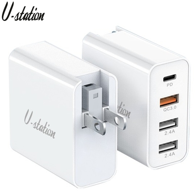 【U-station】PD/QC3.0 多功能智慧型充電器(TC-4513E)