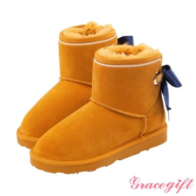 Grace gift-美少女戰士蝴蝶結變身器雪靴 黃