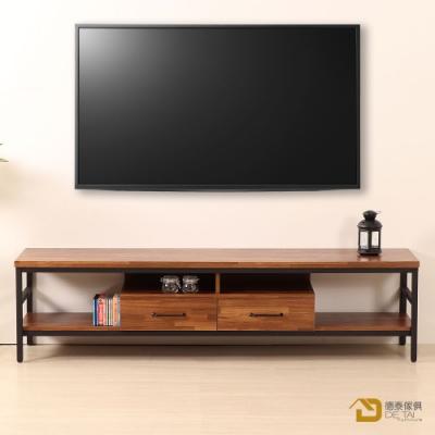 D&T 德泰傢俱 格萊斯積層木工業風6尺TV櫃-180.8x44.9x46.5cm