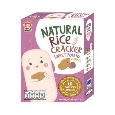 泰國【Apple Monkey】愛啵寶寶 茉莉香米 紫番薯餅(30g)