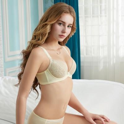 瑪登瑪朵 輕盈軟棉圈內衣  A-E罩杯(鵝黃)