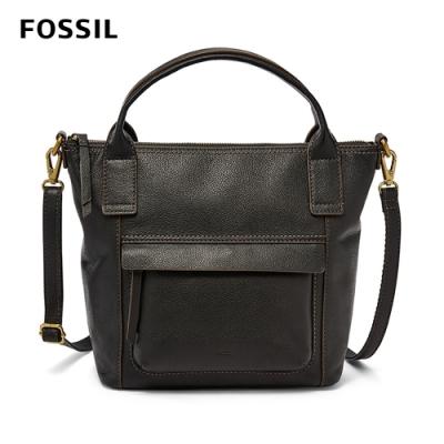 FOSSIL AIDA 艾達休閒風黑色手提側揹兩用包 SHB2098001