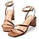 D+AF 名模私著.一字斜帶繫踝高跟涼鞋*棕 product thumbnail 1