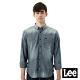 Lee 牛仔襯衫 棉點竹節深淺漸層 -男款-中古淺藍 product thumbnail 1