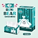 BeniBear邦尼熊復古Tiffany藍條紋抽取式家用紙100抽6包8袋 product thumbnail 2