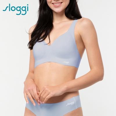 sloggi ZERO Feel Bralette零感系列無鋼圈圓V領背心式內衣 S-EL 天際藍 88-300 NE