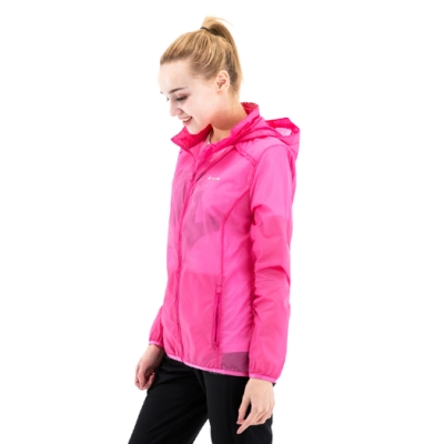 【St. Bonalt 聖伯納】女款單色超輕透防曬外套 (8029-桃紅) 抗UV 防曬 防風 防潑水 輕薄 透氣