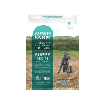 加拿大OPEN FARM開放農場-幼齡犬高優質蛋白食譜(雞肉+太平洋鮭魚) 4.5LB(2.04KG)(購買第二件贈送寵鮮食零食*1包)