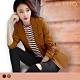 外套-LIYO理優-MIT翻領顯瘦口袋女西裝刷毛保暖外套-E838001 product thumbnail 1