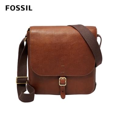 FOSSIL BUCKNER 都會旅人真皮側背公事包-咖啡色 MBG9374222