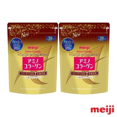 明治 膠原蛋白粉奢華版-璀璨金28日份袋裝(196g) x 2