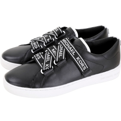 Michael Kors Casey 品牌字母織帶皮革休閒運動鞋(黑色