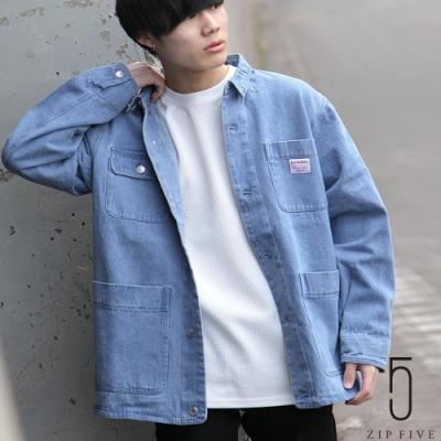 ZIP日本男裝 KANGOL丹寧工裝夾克 (7色)