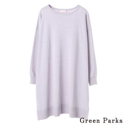 Green Parks 光滑質感素面長版針織上衣