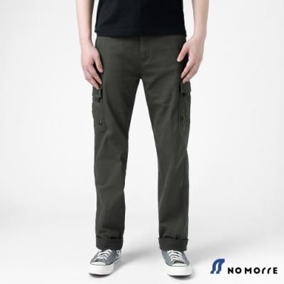 NoMorre 輕薄透氣彈力多袋直筒工作褲-橄欖綠