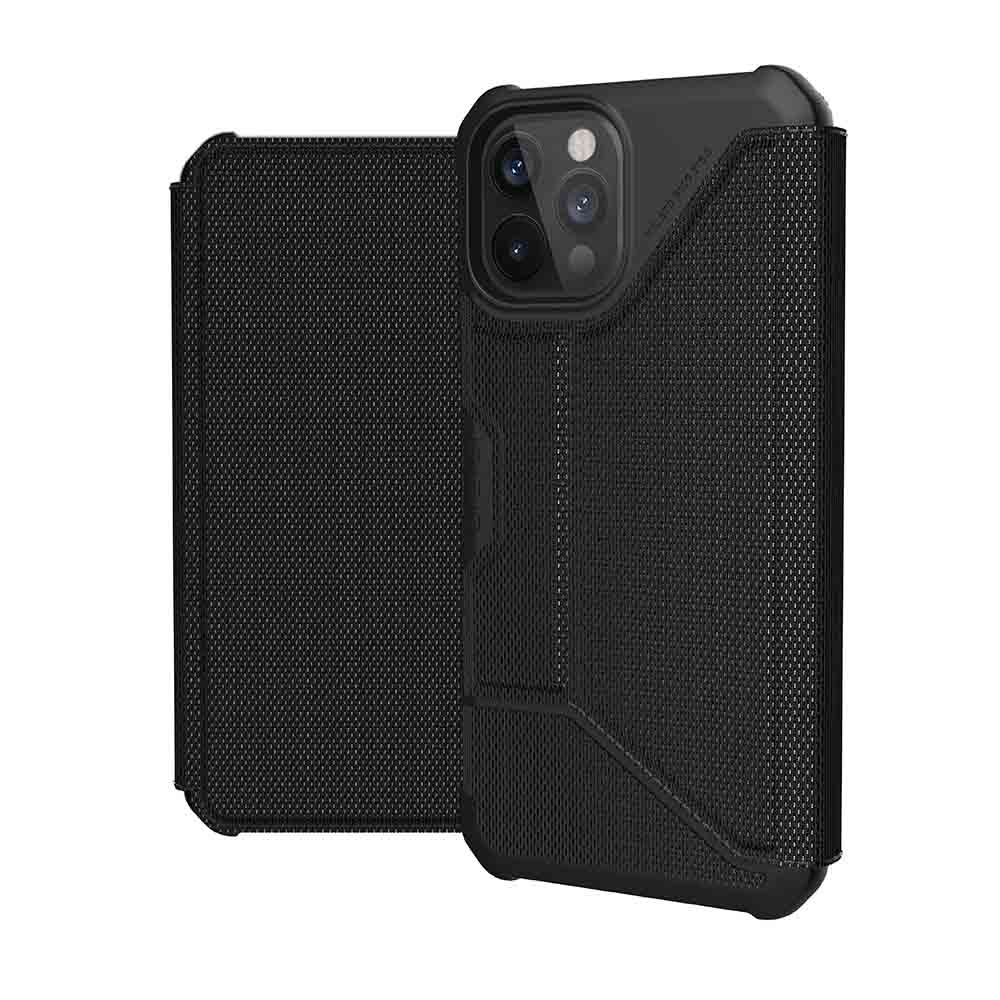 UAG iPhone 12 Pro Max 翻蓋式耐衝擊保護殼-軍用黑
