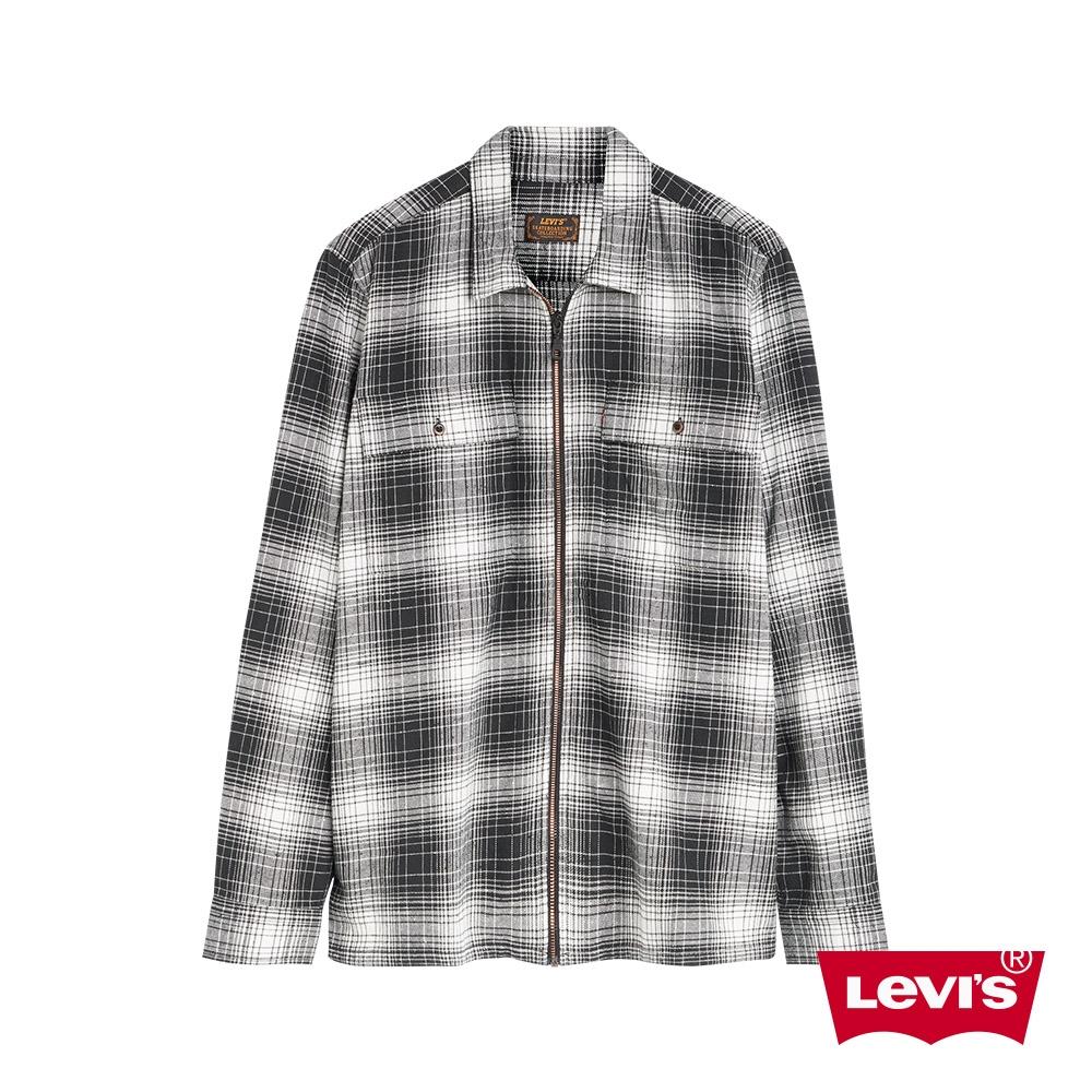Levis 男款 工裝格紋襯衫 滑板系列 寬鬆休閒版型 拉鍊穿脫