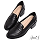 Ann'S學院提案-質感素面粗跟5cm紳士鞋-黑 product thumbnail 1