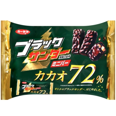 有樂製果 漆黑雷神巧克力風味餅(154g)