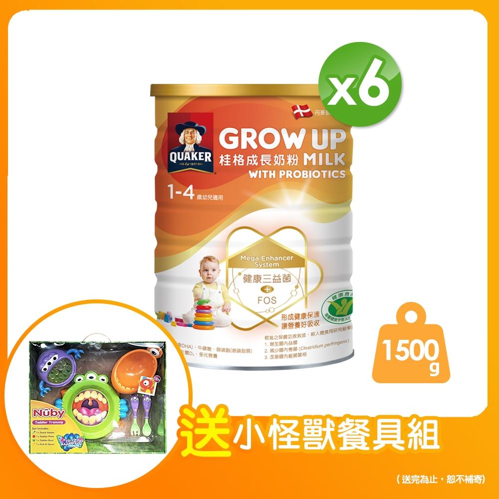 桂格 三益菌成長奶粉(1500g x6罐)