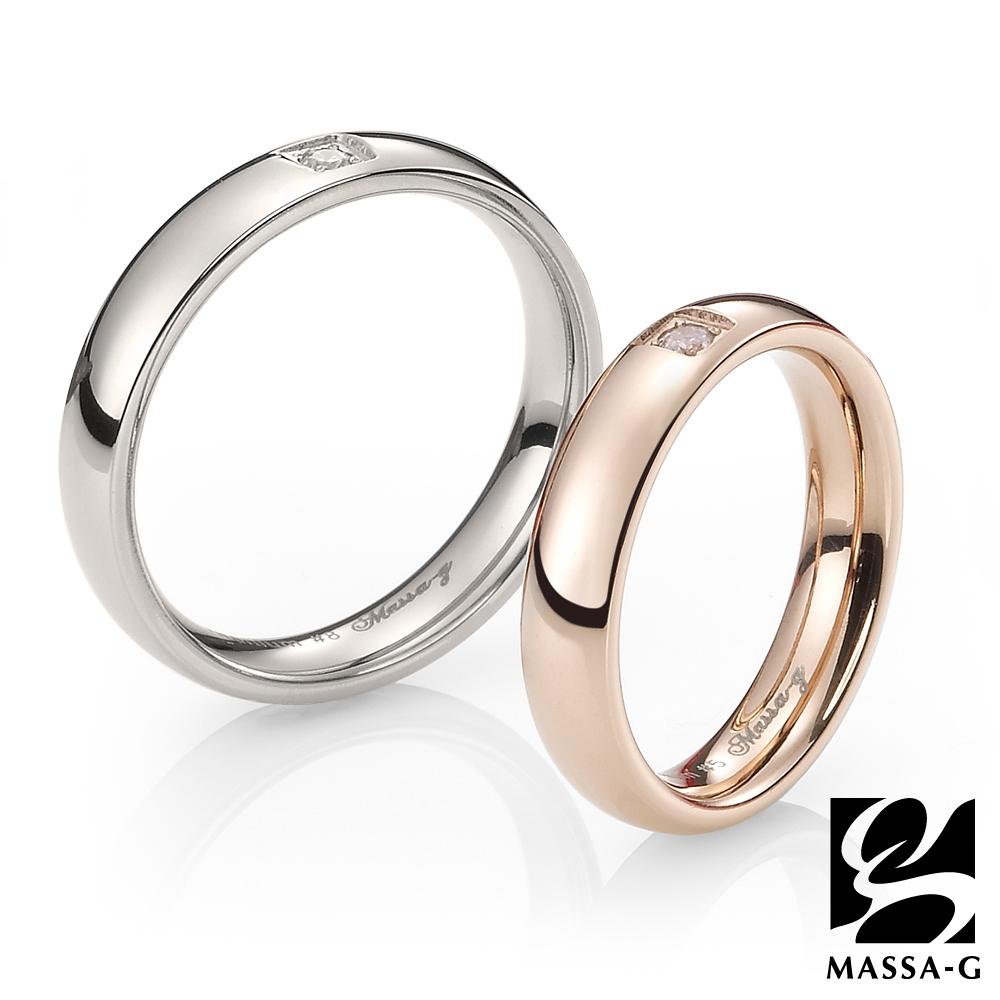 MASSA-G DECO系列 珍愛旅行 玫瑰金+銀 鈦金對戒