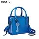 FOSSIL HOPE 多彩條紋織帶手提/側揹包-天藍色  ZB7910965 product thumbnail 1