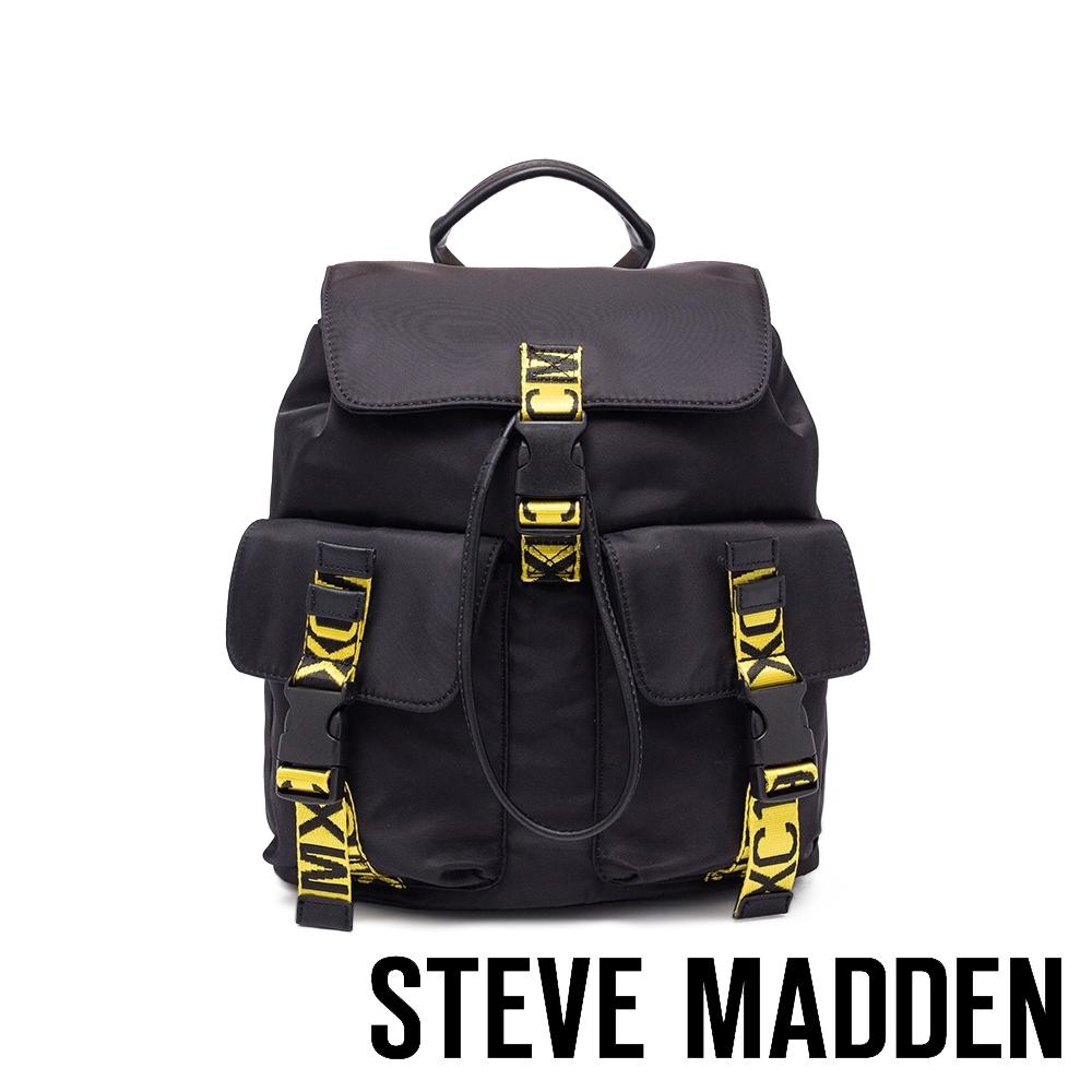 STEVE MADDEN-BEXPRESL 大玩文字潮流背帶後背包-黑色(大)
