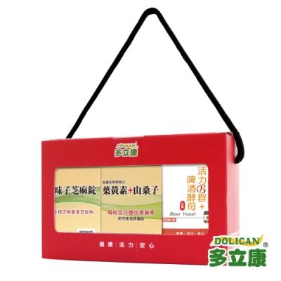 多立康 守護健康組- 葉黃素+B群+五味子芝麻錠(3入組)