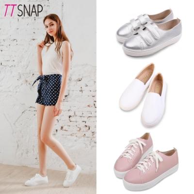 [時時樂限定]TTSNAP-MIT輕量真皮厚底鞋(三款任選)