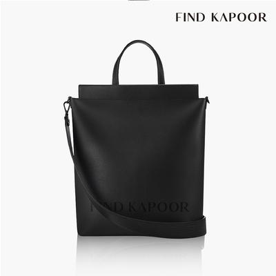 【FIND KAPOOR】TOTE 30 字母系列蜥蜴壓紋托特包- 黑色