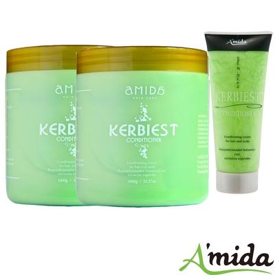 Amida 蜜拉葉綠素頭皮髮調理護髮素全家組(1000ml*2+200ml)