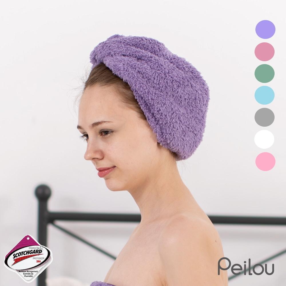 貝柔十倍吸水超細纖維抗菌乾髮帽(9色可選)