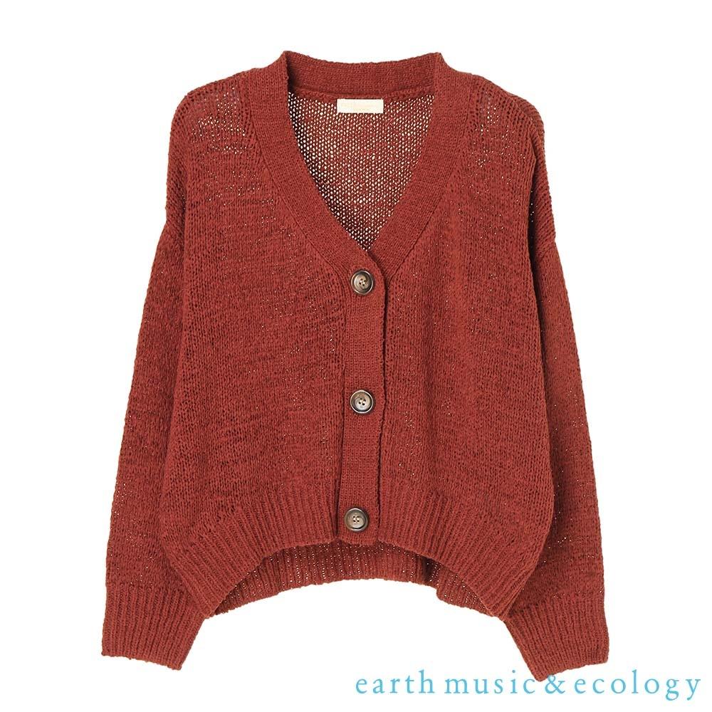earth music 素色針織短版罩衫外套