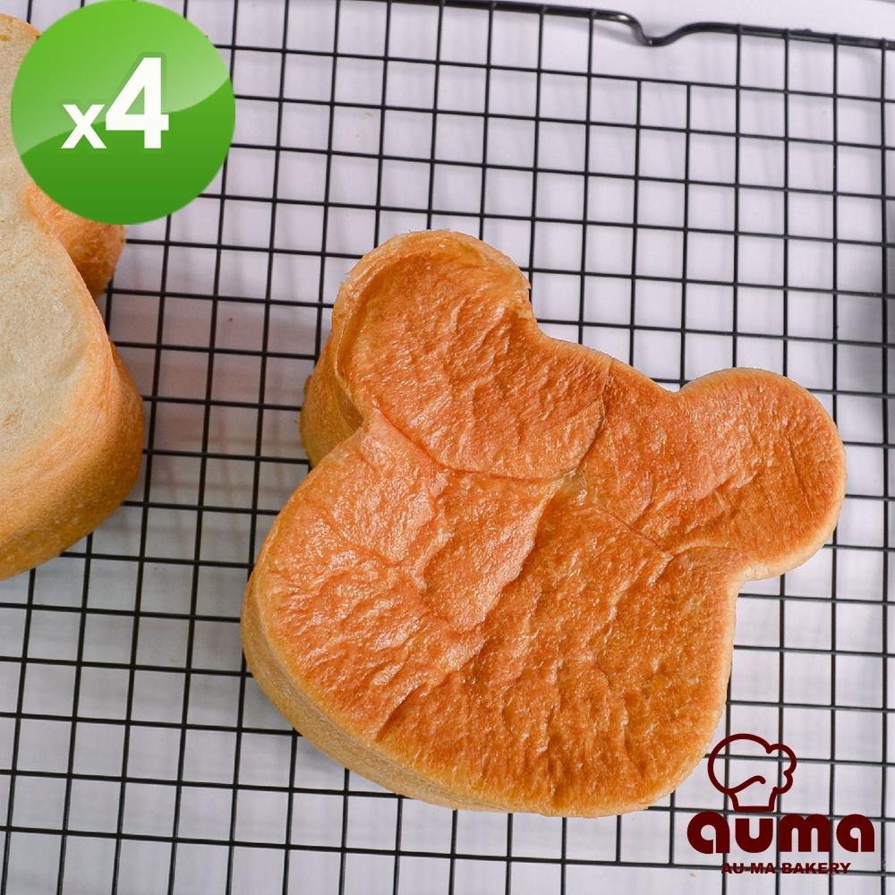 奧瑪烘焙 熊熊生吐司(340g±3%/個)x4條